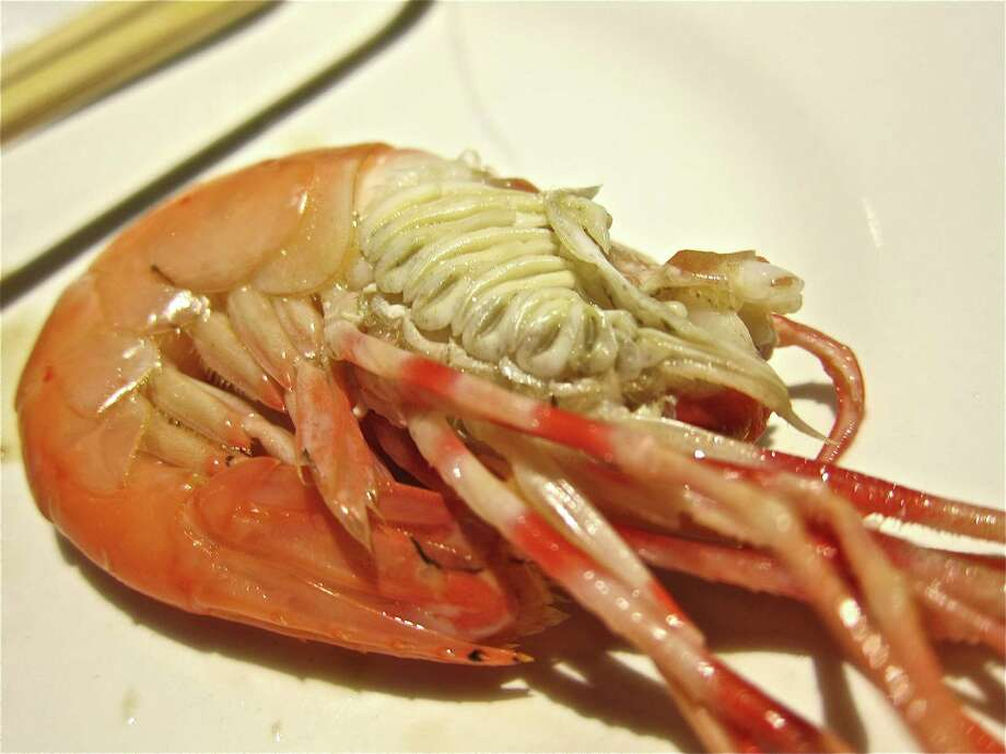 Steamed live spot prawn at Hai Cang seafood restaurant. Photo: Alison Cook