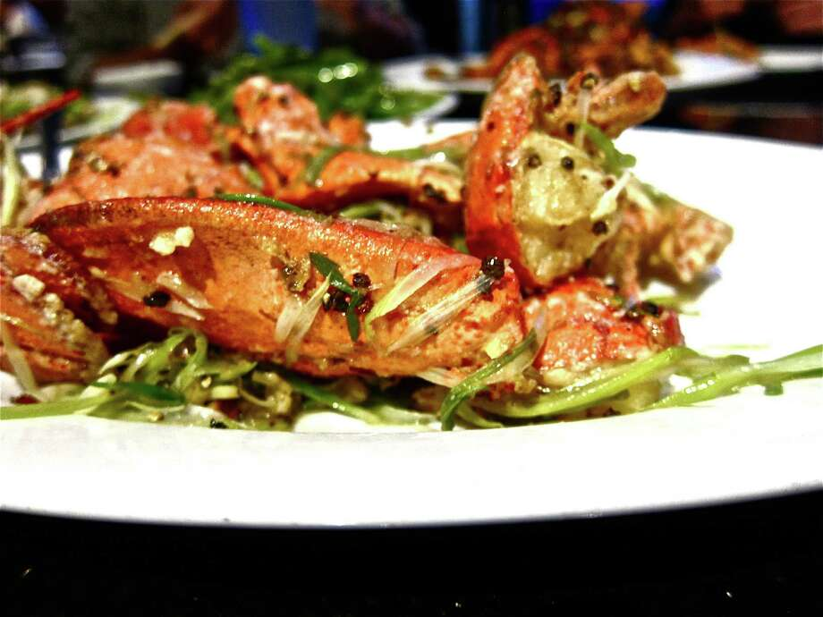 Live lobster with beer and black pepper at Hai Cang seafood restaurant. Photo: Alison Cook