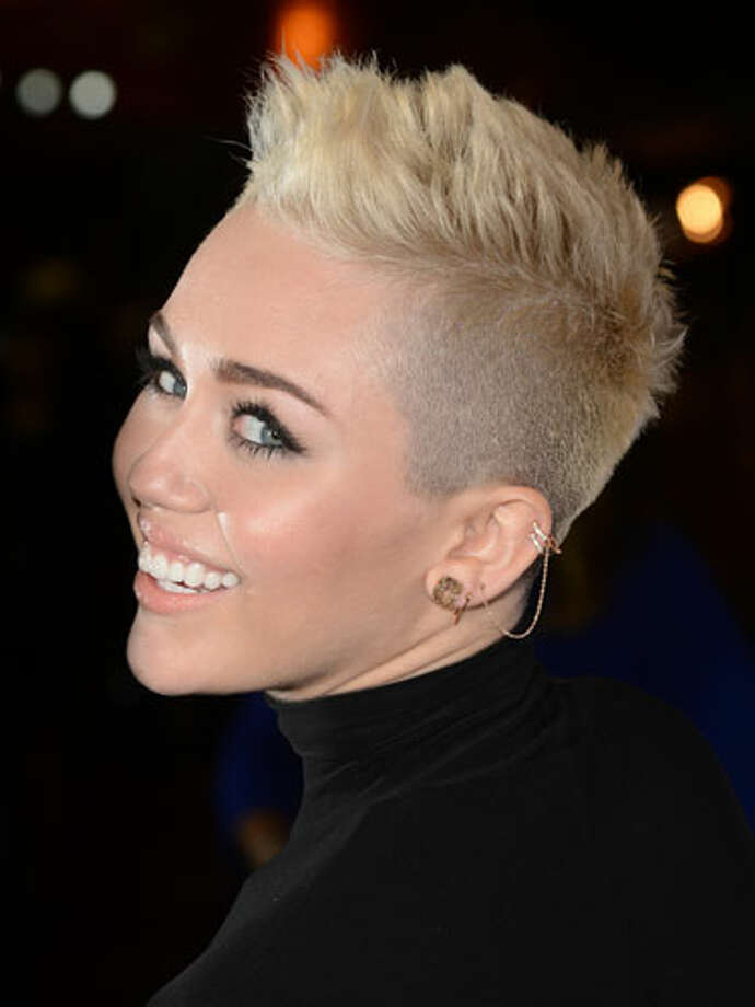 """Miley CyrusThe young star's spiky crop with frosted tips was shocking at first, but it turns out she's a trendsetter. """"The two-face hairstyle is becoming more of a statement look mostly worn by hipsters,"""" says Perez. """"Back in the day, Salt-n-Pepa made this style trendy."""" Today, fashion-forward women are pushing the look even farther.             50 Knockout Date-Night Hairstyles                        100 Celeb Hairstyles For Every Length                        50 Simple Little Ways to Feel Sexy                        40 No-Fail Beauty Shortcuts                        Date-Night Dresses Under $100                       Photo: Getty Images / 2012 WireImage"""