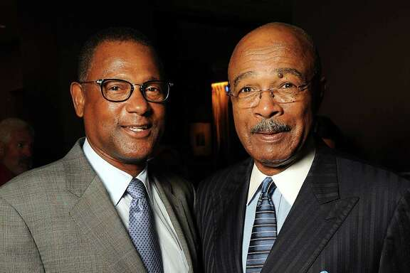 Willie Alexander and honoree Dr. Rod Paige at the Blue Cure Luncheon at the Hotel ZaZa Friday Sept.27 2013.(Dave Rossman photo)