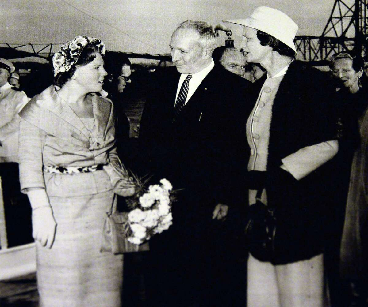 Click through the slideshow to learn more about Albany's Dutch connection, and to see our sister city's biggest party of the year . Queen Beatrix of the Netherlands, left, with Albany Mayor Erastus Corning 2nd and his wife Betty. Photo courtesy of the Albany County Hall of Records.