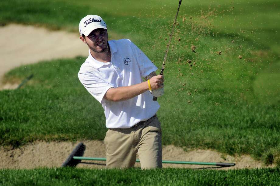Bethlehem's Matt Mastrianni hits out of a bunker during Section II golf championships on Tuesday, Oct. 1, 2013, at Ballston Spa Country Club in Ballston Spa, N.Y. (Cindy Schultz / Times Union) Photo: Cindy Schultz / 00024043B