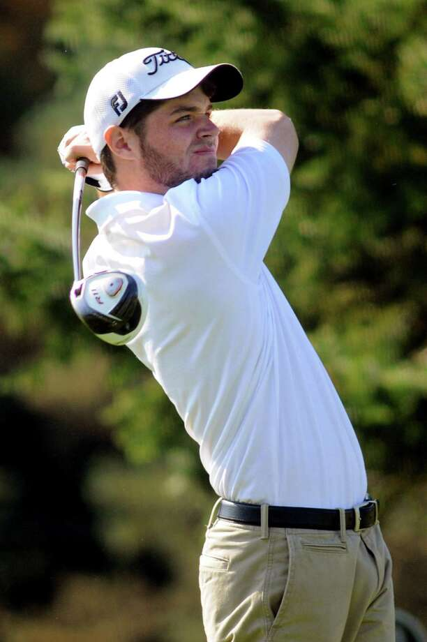 Bethlehem's Matt Mastrianni drives off the tenth tee during Section II golf championships on Tuesday, Oct. 1, 2013, at Ballston Spa Country Club in Ballston Spa, N.Y. (Cindy Schultz / Times Union) Photo: Cindy Schultz / 00024043B