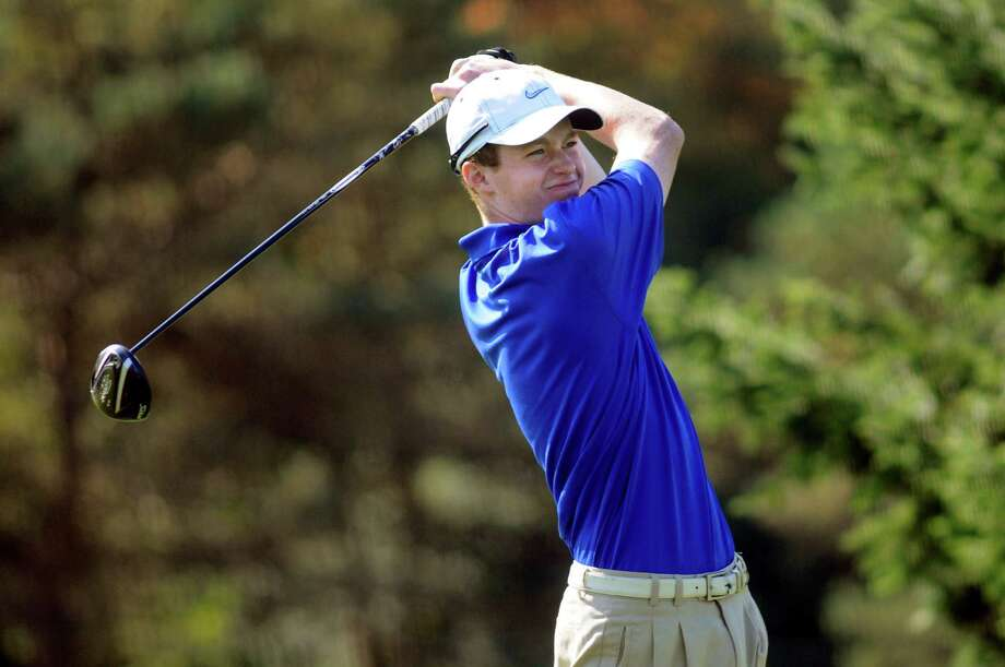 Saratoga's Calvin Beckwith drives off the tenth tee during Section II golf championships on Tuesday, Oct. 1, 2013, at Ballston Spa Country Club in Ballston Spa, N.Y. (Cindy Schultz / Times Union) Photo: Cindy Schultz / 00024043B
