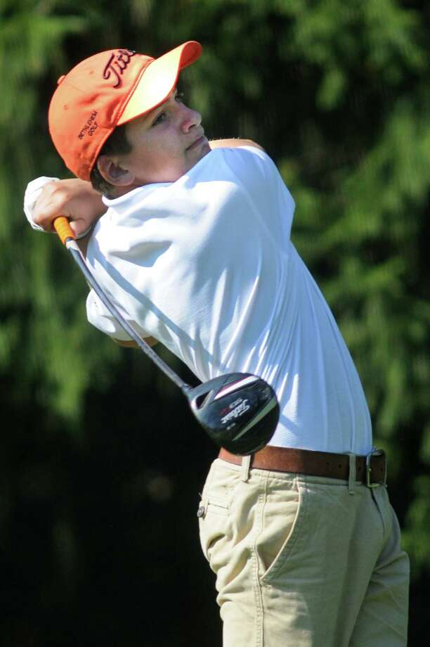 Bethlehem's Austin Fox drives off the fifth tee during Section II golf championships on Tuesday, Oct. 1, 2013, at Ballston Spa Country Club in Ballston Spa, N.Y. (Cindy Schultz / Times Union) Photo: Cindy Schultz / 00024043B