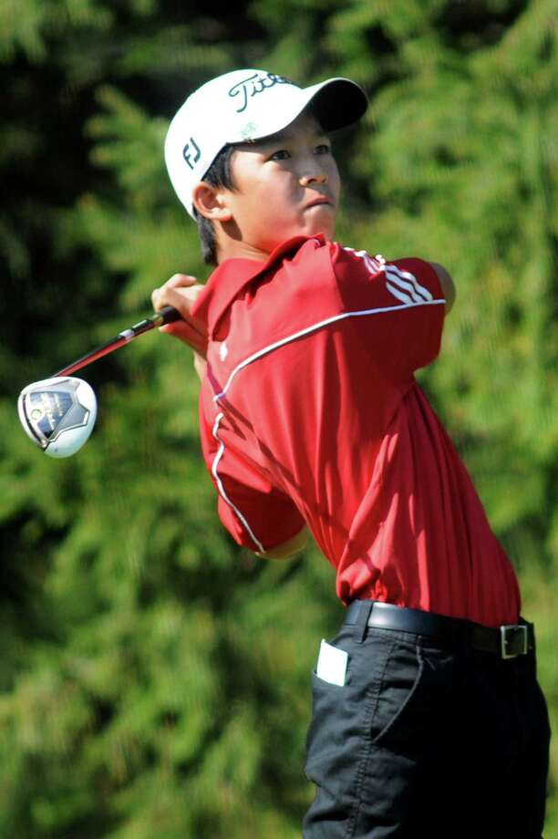 Niskayuna's Michael Zhao drives off the fifth tee during Section II golf championships on Tuesday, Oct. 1, 2013, at Ballston Spa Country Club in Ballston Spa, N.Y. (Cindy Schultz / Times Union) Photo: Cindy Schultz / 00024043B