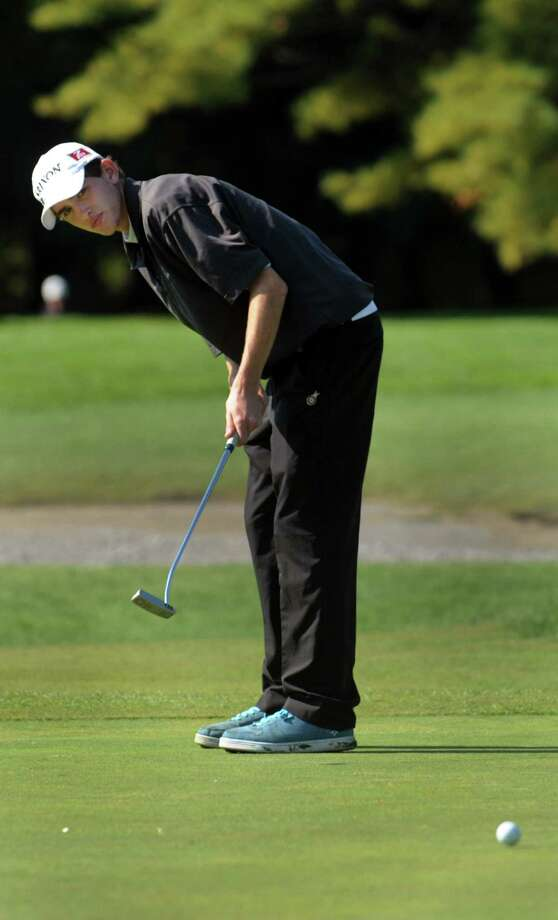 Burnt Hills' David Wellington watches a putt during Section II golf championships on Tuesday, Oct. 1, 2013, at Ballston Spa Country Club in Ballston Spa, N.Y. (Cindy Schultz / Times Union) Photo: Cindy Schultz / 00024043B