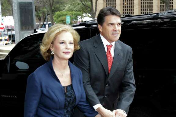 Gov. Rick Perry and his wife, Anita arrive for a church service prior to his inauguration, Tuesday, Jan. 18, 2011, in Austin.