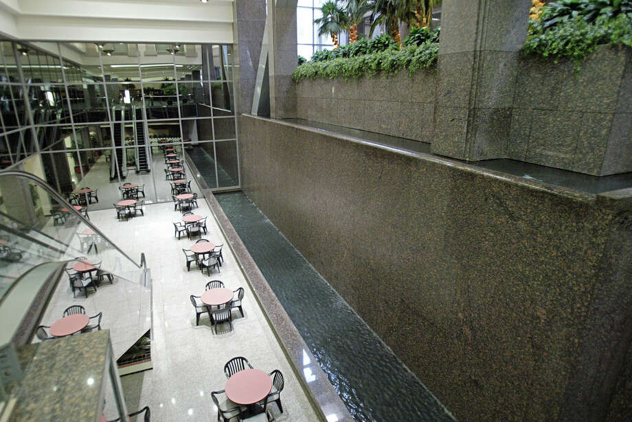 July 19, 2005  Heritage Plaza is being sold to a group out of Atlanta this week as Texaco, who was acquired by Chevron, is moving out of the building. Pictured here is a portion of the main lobby. Photo: Jessica Kourkounis, For The Chronicle / Freelance
