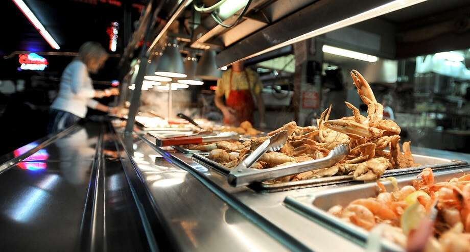 Larry's French Market offers a seafood buffet in Groves, Thursday October 6, 2011. Tammy McKinley/The Enterprise