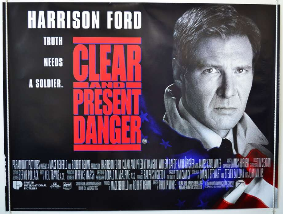 Released in 1994, Clear and Present Danger starred Harrison Ford as Jack Ryan and grossed $215 million.