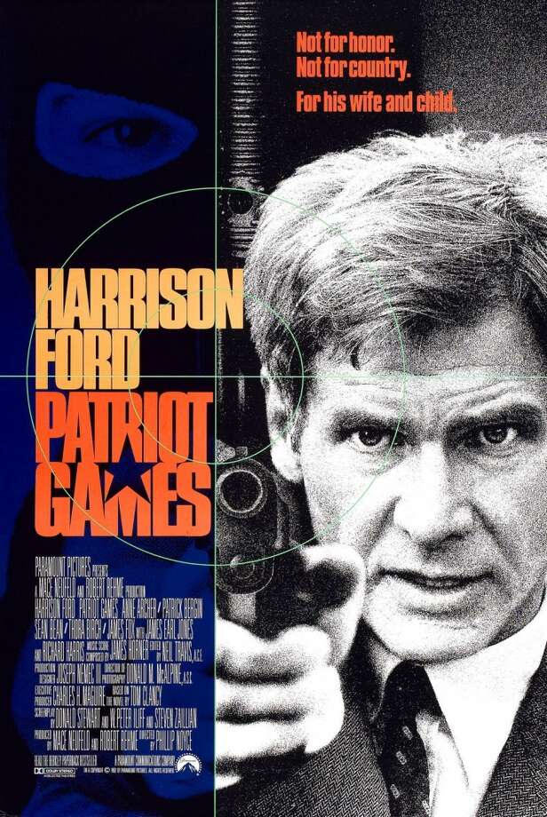 Released in 1992, Patriot Games features Harrison Ford as Jack Ryan and grossed $178 million.