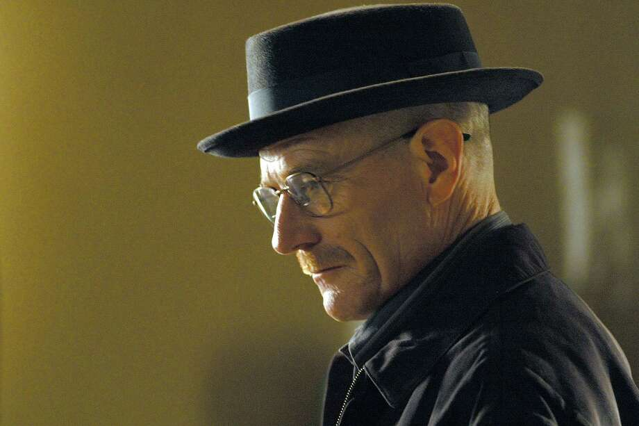 "This image released by AMC shows Walter White, played by Bryan Cranston, wearing a Bollman 1940's pork pie hat in a scene from the second season of ""Breaking Bad.""  The series finale of the popular drama series aired on Sunday, Sept. 29. (AP Photo/AMC, Ursula Coyote) Photo: Ursula Coyote, HOEP / AMC"