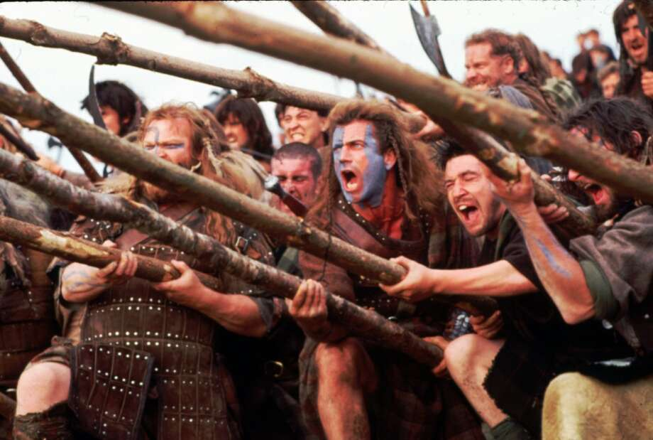 At the movies'Braveheart' Photo: AP