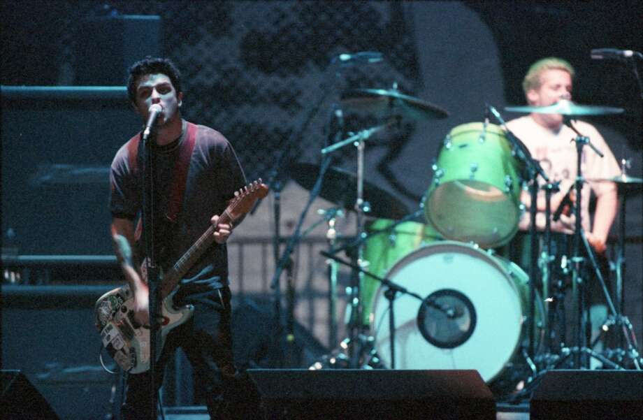 On the radioGreen Day performs at the AstroArena in 1995. Photo: Howard Castleberry, Houston Chronicle