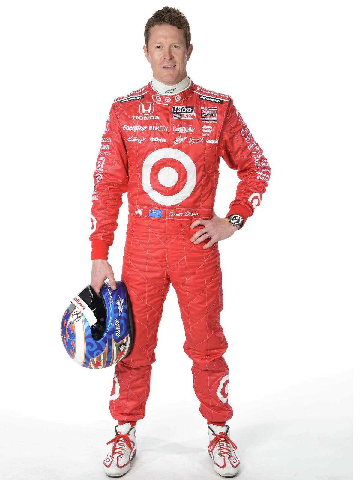 Scott Dixon  Car No.: 9  Team: Target Chip Ganassi Racing  Age: 33  Hometown: Auckland, New Zealand  Residence: Indianapolis, Ind.  Years in open-wheel racing: 12  Wins: 32  Highlights: The stoic Dixon is a two-time series champion and the 2008 Indy 500 winner. He is regarded as one of the most consistent drivers in the field. He's won three races this season and stands second in points, 49 behind Castroneves.