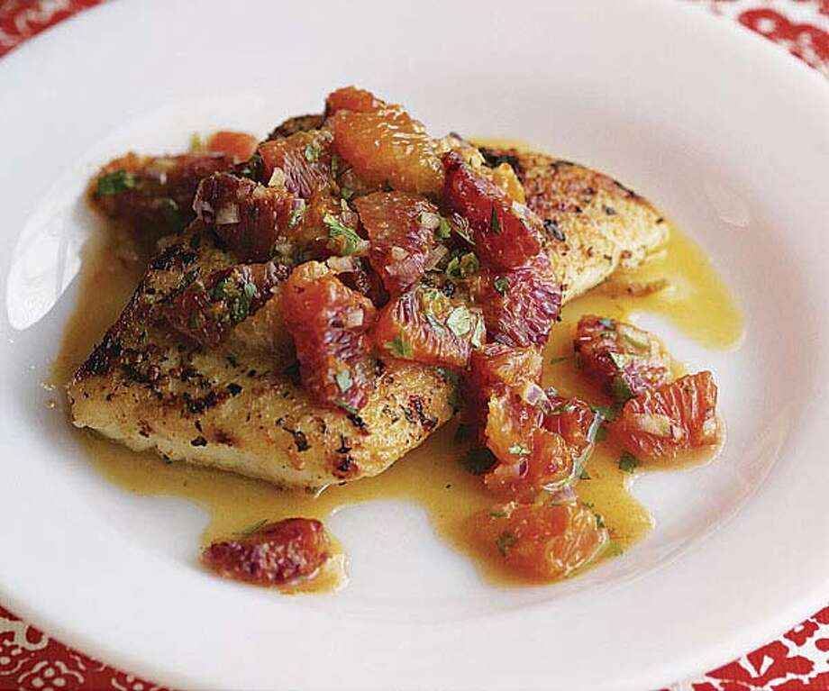 Halibut with Salsa/www.finecooking.com