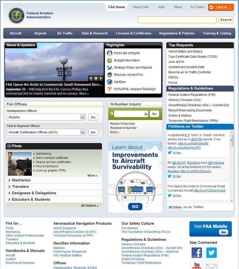 The Federal Aviation Authority is still online post shutdown.Related: FAA