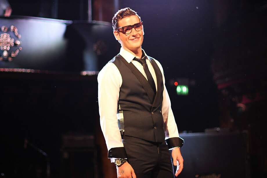 The Artful Gentleman model at the Sept. 24 Haberdash event is also wearing Son Noir eyewear.