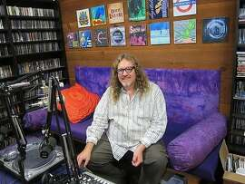 Rusty Hodge, founder of Soma FM, at the station's headquarters.(2013)