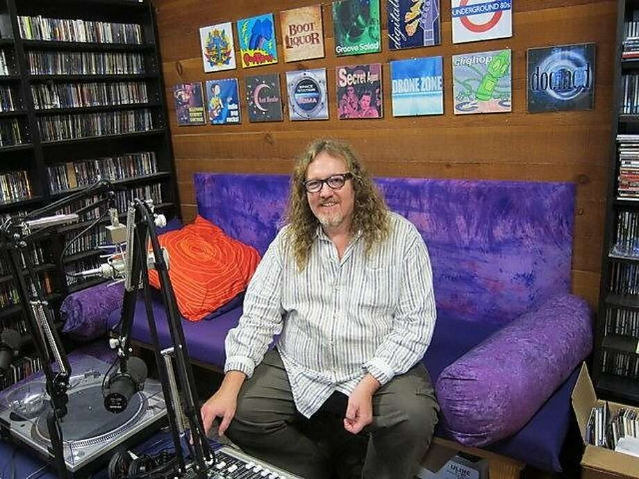 Rusty Hodge, 51, founder of the many-faceted, noncommercial Soma FM, at the station's headquarters in the Mission District. Photo: Ben Fong-Torres