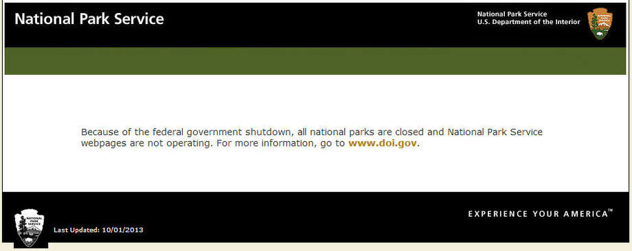 In a mutual show of shutdown support, the National Parks Service has shut down both its parks and its website.Related: NPS