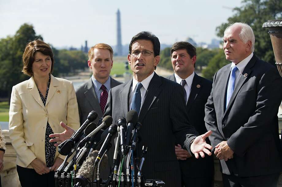 House Majority Leader Rep. Eric Cantor and his fellow Republicans are holding the government hostage on ideological and political grounds. Photo: Evan Vucci, Associated Press