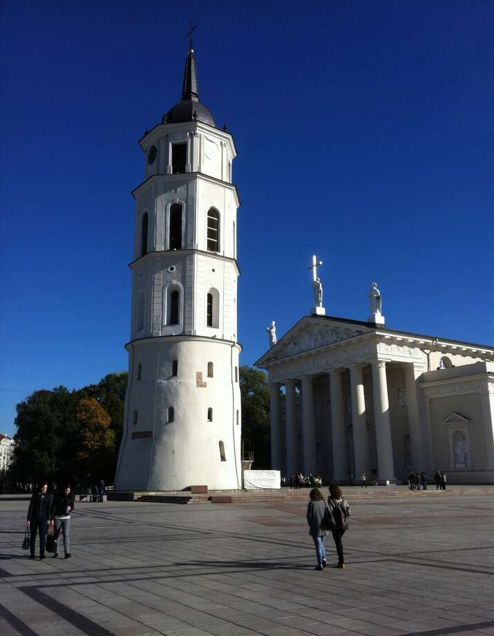 The Cathedral of Vilnius and Cathedral Square in Vilnius Old Town. Photo: Spud Hilton, Bad Latitude