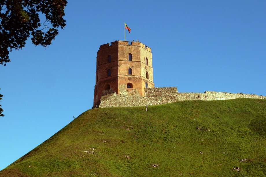 Remaining tower on Castle Hill over Vilnius, Lithuania. Photo: Spud Hilton, Bad Latitude