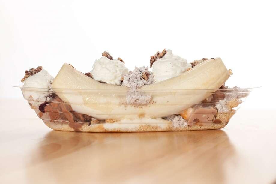 Banana split from Cloud 10 Creamery