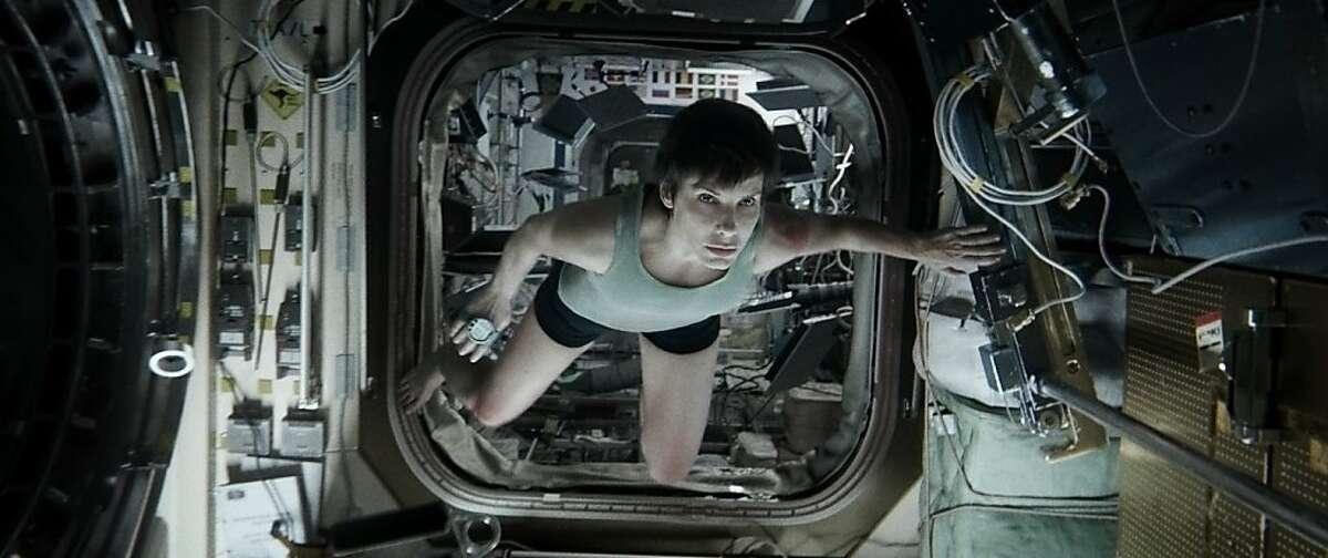 SANDRA BULLOCK as Ryan Stone in Warner Bros. Pictures' dramatic thriller