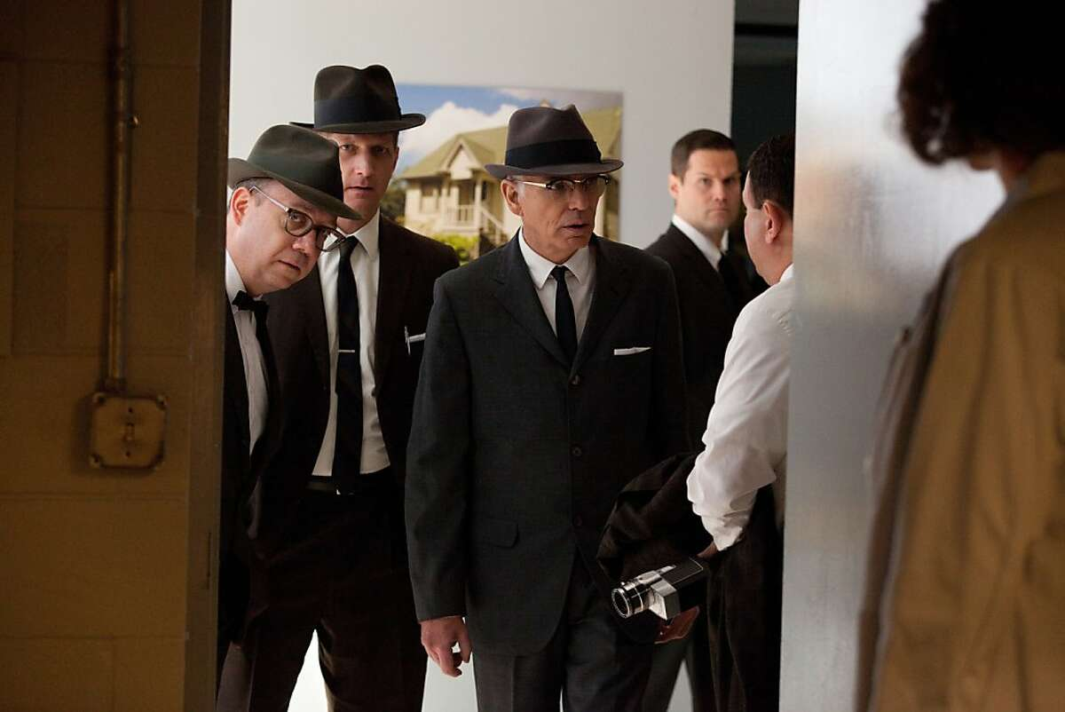 """(L-R) PAUL GIAMATTI as """"Abraham Zapruder,"""" PAUL SPARKS as """"Harry McCormick,"""" and BILLY BOB THORNTON as """"Forrest Sorrels,"""" star in PARKLAND"""