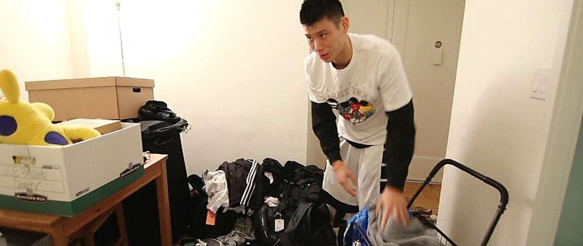 "Jeremy Lin is seen in a scene from, ""Linsanity."""