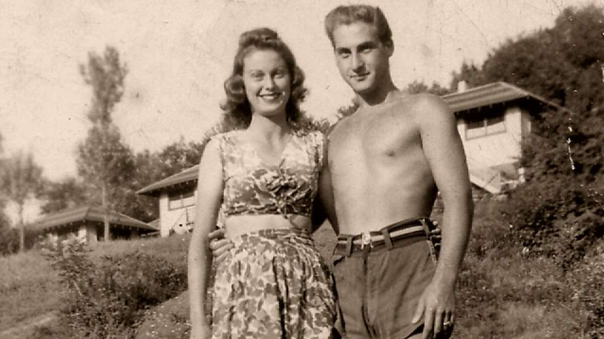 Sid Caesar and his financee Florence at Avon Lodge from the film,