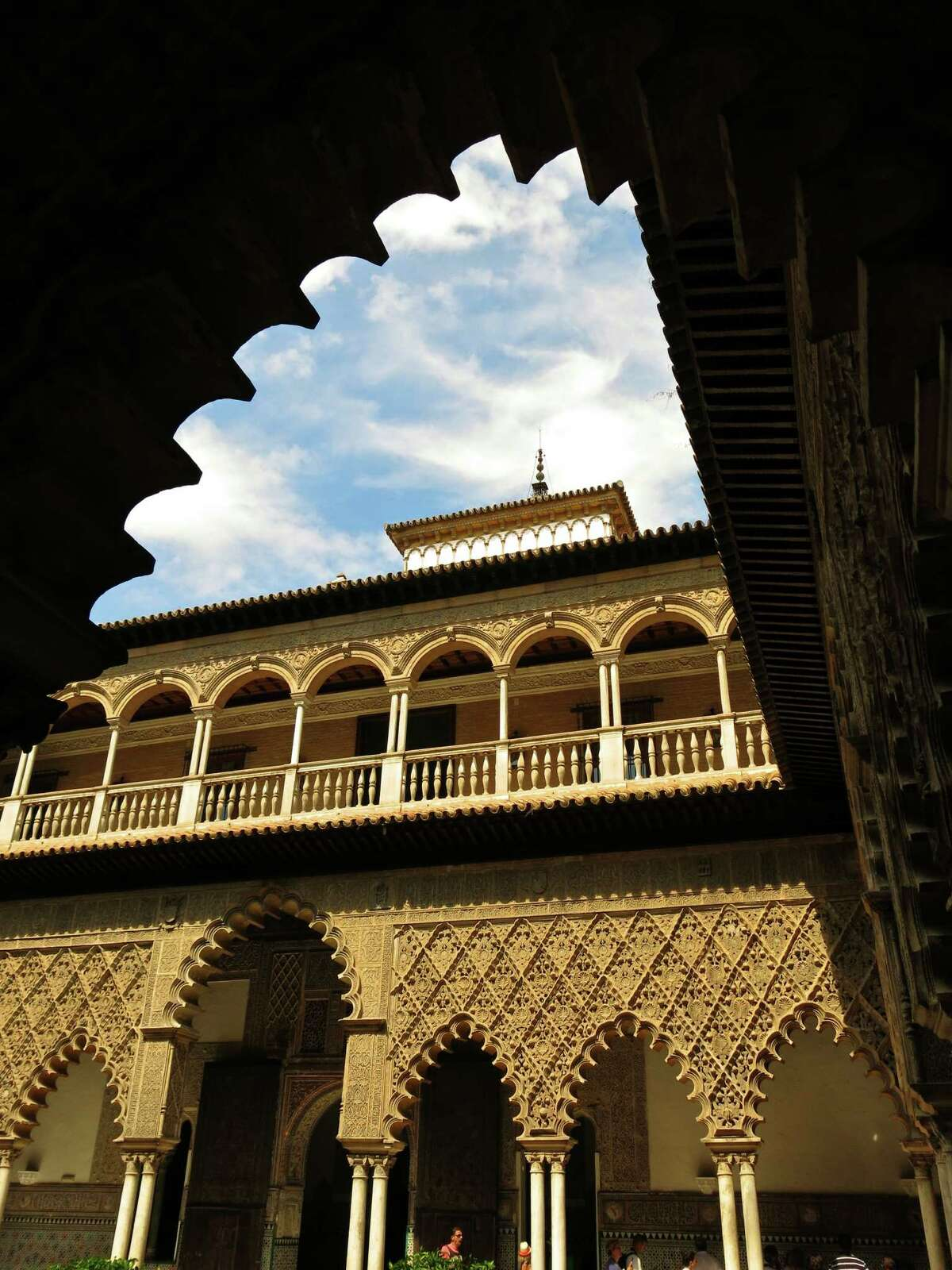 Seville's Real Alcazar is an intricately designed architectural masterpiece.