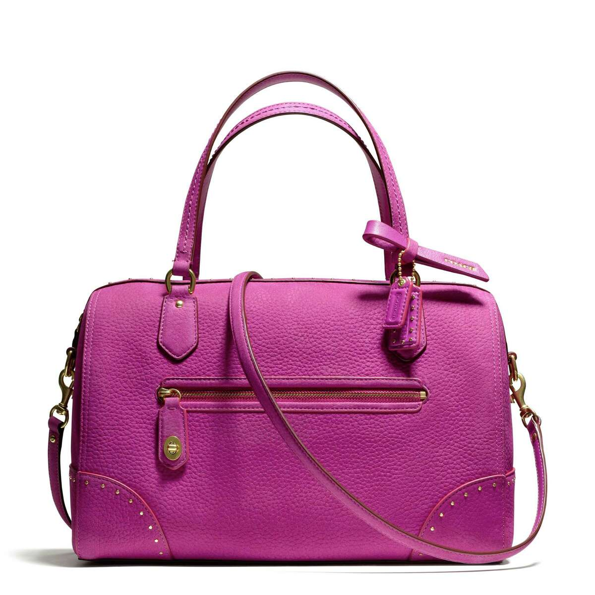 PRETTY IN PINK During the month of October, 20 percent of sales of the Poppy leather satchel and other