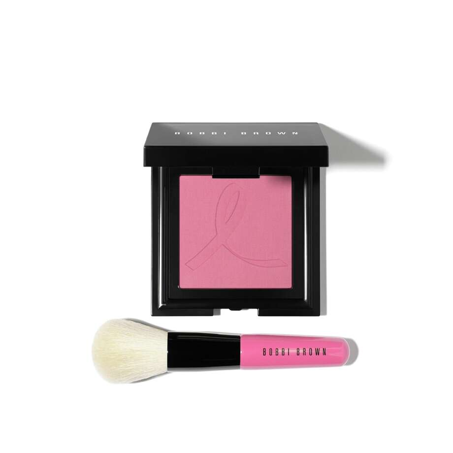 GET CHEEKYTen dollars per purchase of Bobbi Brown's embossed French Pink blush and mini Face Blender brush go to the Breast Cancer Research Foundation; $45 at Macy's,Saks Fifth Avenueand Sephora.