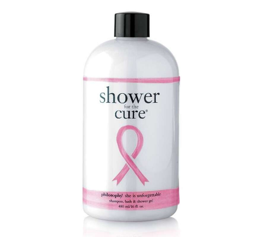 SOAP FOR HOPEEvery cent of the net profits from Philosophy's Shower For the Cure combo shower gel, bubble bath and shampoo goes to the Women'sCancer Research Fund; $20 at Sephora.