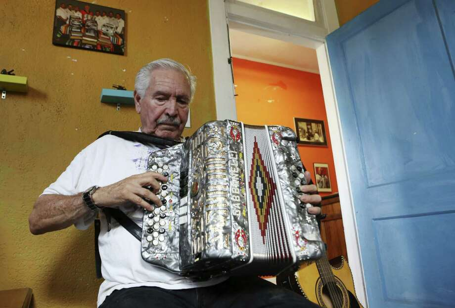 Bene Medina leads a group at the Conjunto Heritage Taller in 2012. The Taller is at the center of conjunto music preservation in San Antonio. Photo: Express-News File Photo