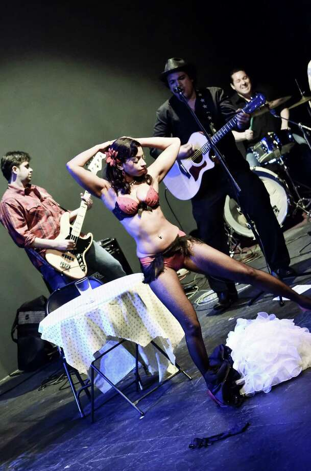 Stars and Garters Burlesque troupe will perform backed by a live band on Saturday. Photo: Courtesy Photo