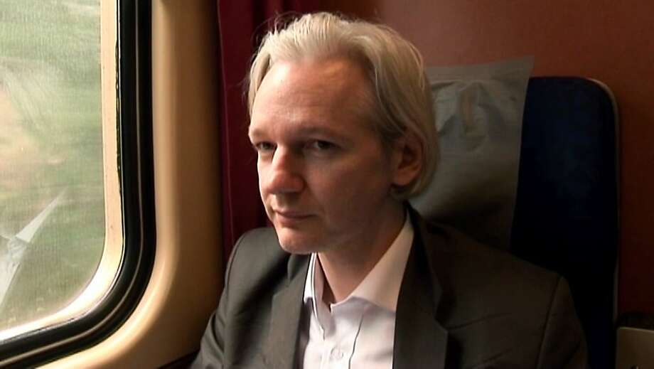 "This film publicity image released by Focus World shows Julian Assange in a scene from the documentary, ""We Steal Secrets:  The Story of WikiLeaks."" (AP Photo/Focus World) Photo: Associated Press"