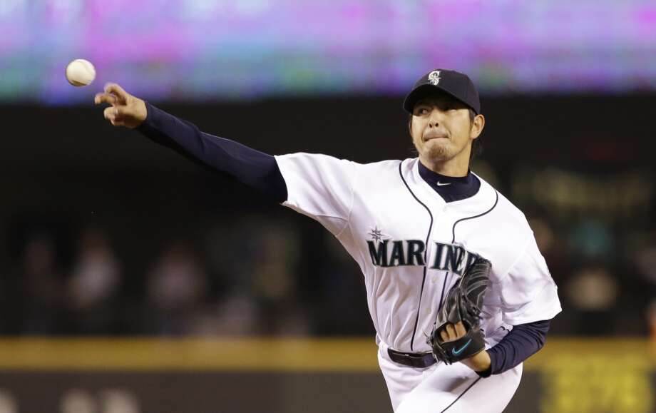 Stephen CohenWhy I'm optimistic: Exciting rotation possibilitiesEverybody knows Felix Hernandez is one of the best pitchers in the game, but this season he wasn't even the best on his own team. Hisashi Iwakuma (above) emerged in his second major-league season, going 14-6 with a 2.66 ERA and leading the American League at 7.0 WAR. Hernandez was no slouch, either, posting a 12-10 record with a 3.04 ERA.  Sure, Joe Saunders was awful in 2013 -- especially over a 3-8 second half when he posted a 6.98 ERA -- and the Aaron Harang experiment didn't work out, but the bevy of young options for the back half of the rotation are potentially very promising.  Erasmo Ramirez pitched fairly well down the stretch, and uber-prospect Taijuan Walker continued to work his way toward a big-league spot. The wildcard is prized prospect James Paxton, who looked downright dominant in four September starts, sporting a 3-0 record with a 1.50 ERA. Photo: Elaine Thompson, Associated Press