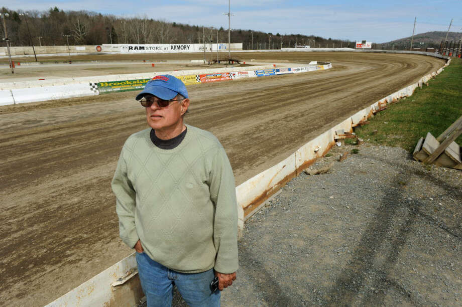 Howard Commander at his Lebanon Valley Speedway in New Lebanon. Commander doesn't seem ready to give up on his plan for a motocross track, despite a recent rejection of the proposal by officials in Stephentown. (Cindy Schultz / Times Union)