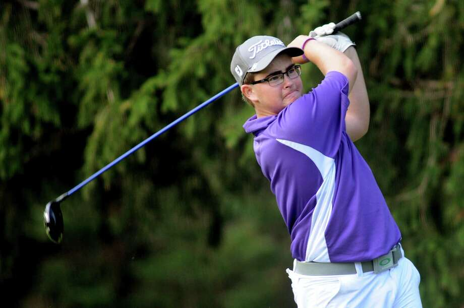 Johnstown's Chris Geleta drives off the fifth tee during the Section II Class B golf championship on Wednesday, Oct. 2, 2013, at the Ballston Spa Country Club in Ballston Spa, N.Y. (Cindy Schultz / Times Union) Photo: Cindy Schultz / 00024043B