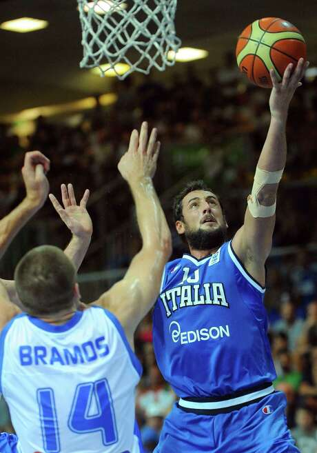 Spurs guard Marco Belinelli was a teammate of Manu Ginobili in the Italian League in 2001.