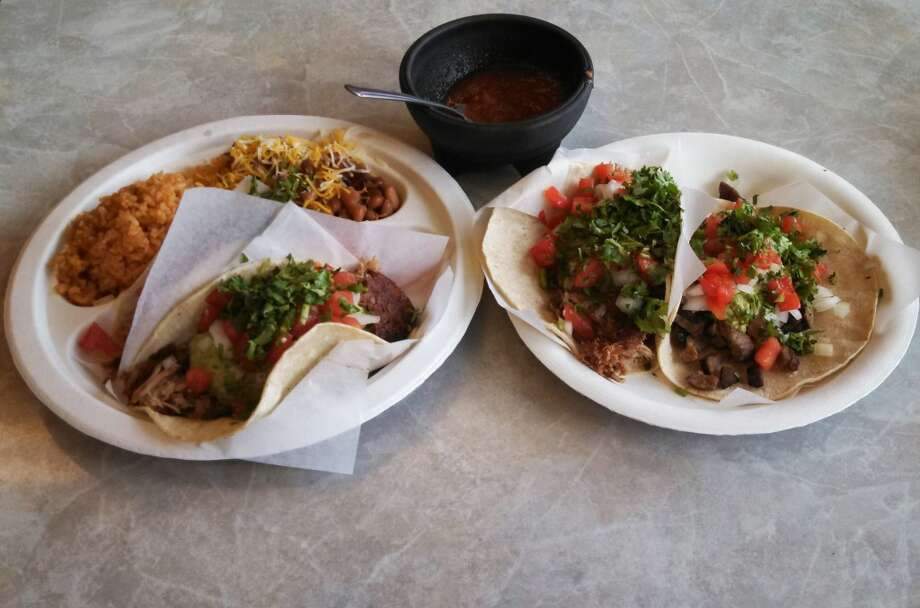 Malena's Taco ShopMalena's Taco Shop is pricier than some other places, but the tacos are bigger, with more stuff, such as guacamole. Pictured are the pork and carne asada tacos in the Ballard shop. Cash or check only.2010 NW 56th St., Ballard; 620 W. McGraw St., Queen Anne. Photo: Aubrey Cohen, Seattlepi.com