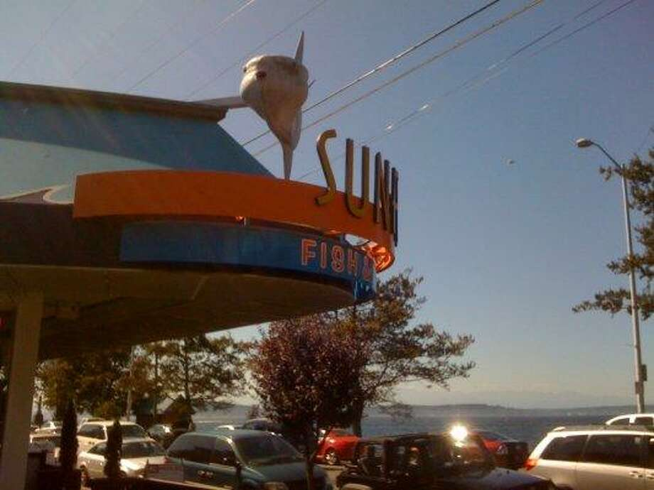 7. Sunfish: Doesn't get better than a great place for fresh fish and view of Alki Beach. If you're not into all things fried, try the fish kabobs. Photo: Michelle Nicolosi, Seattlepi.com