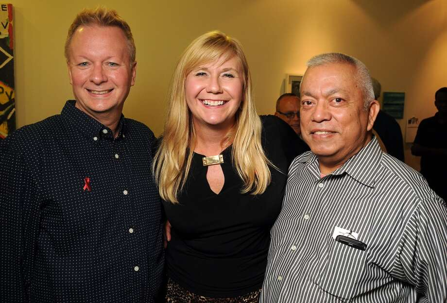 From left: Michael Delaney, Melody Patelis and Fermin Coronado Photo: Dave Rossman, For The Houston Chronicle