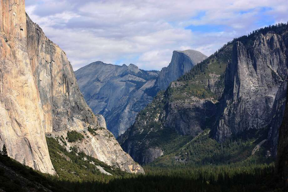 In this Oct. 2, 2013 photo taken by Tammy Webber, a scenic view on her way to Glacier Point trail in the Yosemite National Park, Calif. is seen. By Tuesday morning, everyone awoke to learn that the government, indeed, had shut down. But the park hadn't quite yet. Those with reservations in the park would have 48 hours to get out. Webber decided to make the most of it and drive to Glacier Point and do a long hike. But too late: The road to Glacier Point already was closed. (AP Photo/Tammy Webber) Photo: Tammy Webber, Associated Press