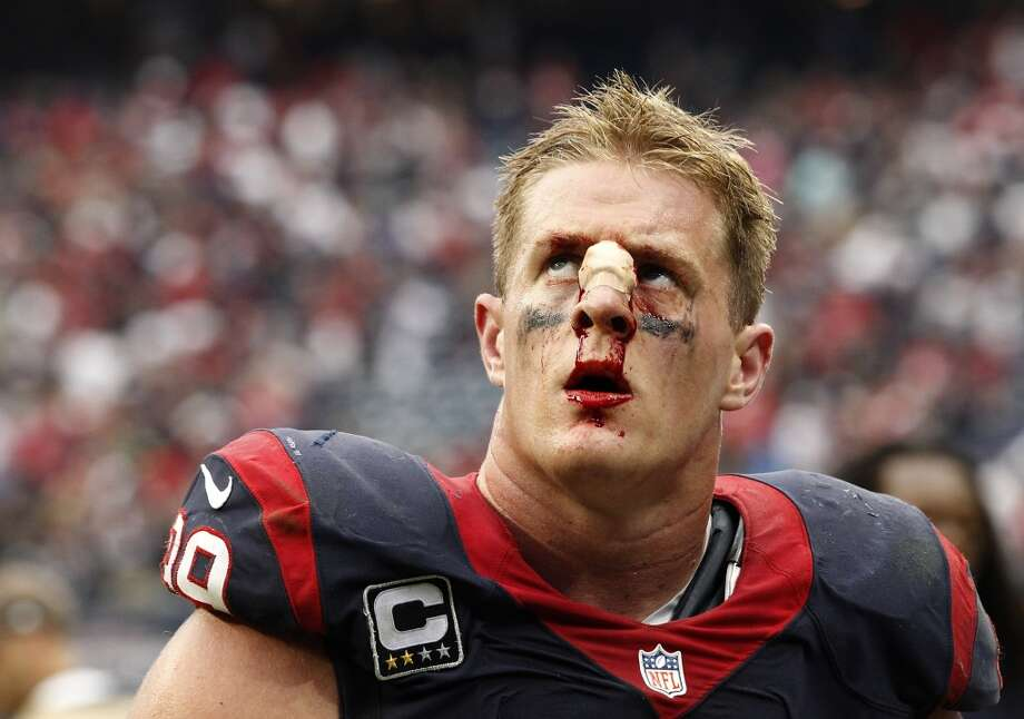 HOUSTON, TX- SEPTEMBER 29: J.J. Watt #99 of the Houston Texans leaves the field after losing to the Seattle Seahawks on September 29, 2013 at Reliant Stadium in Houston, Texas. (Photo by Thomas B. Shea/Getty Images) Photo: Thomas B. Shea, Getty Images